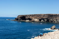 Coves and caves in Ajuy, Fuerteventur Royalty Free Stock Photography
