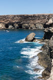Coves and caves in Ajuy, Fuerteventura Stock Photography