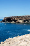 Coves and caves in Ajuy, Fuerteventura Royalty Free Stock Photo