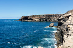Coves and caves in Ajuy, Fuerteventura Stock Photos