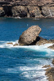 Coves and caves in Ajuy, Fuerteventura, Canary Islands Royalty Free Stock Photos