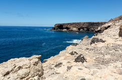 Coves and caves in Ajuy, Fuerteventura Stock Image