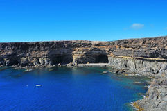 Coves and caves in Ajuy, Fuerteventura, Spain Royalty Free Stock Photo