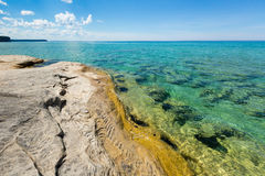 `The Coves` on Lake Superior at Pictured Rocks National Lakeshore Stock Photo