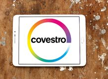 Covestro company logo. Logo of Covestro company on samsung tablet. The main industries served are automotive manufacturing and supply, electrical engineering and Royalty Free Stock Images