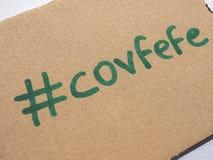 Covfefe, новое слово изобретенное президентом Козырем Стоковые Фотографии RF