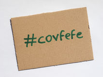 Covfefe, a new word invented by President Trump Royalty Free Stock Images