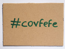 Covfefe, a new word invented by President Trump Stock Image