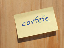 Covfefe, a new word invented by President Trump Stock Photos