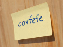 Covfefe, a new word invented by President Trump Stock Photography