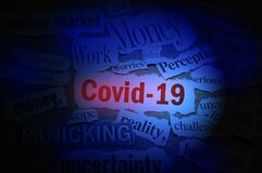 Free Covid 19 Newspaper Headlines With Related News Items Around It ---- Corona Virus Impact Concept Royalty Free Stock Photo - 176137085