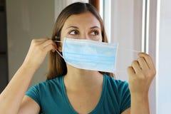 Free COVID-19 Pandemic Coronavirus Woman Wearing Mask Against Virus SARS-CoV-2. Girl Wearing Surgical Mask On Face Against Coronavirus Royalty Free Stock Photos - 178567448