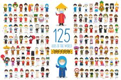 Free Covid 19 Special Edition: Set Of 125 Kids Of The World Of Different Nationalities With Surgical Masks And Latex Gloves Royalty Free Stock Photo - 182447575