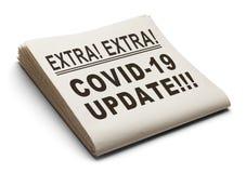 Free COVID-19 Update Newspaper Stock Photo - 178612410