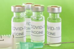 Free Covid-19 Vaccine Vials. Coronavirus Pandemic Infection. Prevention Vaccination Royalty Free Stock Photography - 189063987