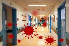 Covid-19 coronavirus disease hospital corridor background