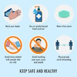 Covid-19 prevention quote with images