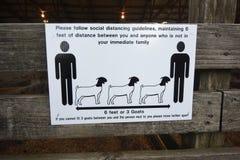 COVID-19 Social Distancing Warning Sign