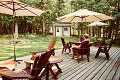Covid Summer Blues on Backyard Deck