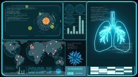 Covid virus spread all world analysis and digital graph bar blue monitor zoom to america