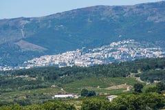 Covilhãstad, Cova DA Beira, Beira Baixa provincie, het district van Castelo Branco, Portugal Stock Afbeeldingen