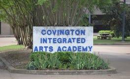 Covington集成了艺术学院, Covington, TN 免版税图库摄影