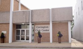 Covington Civic Center, Covington, TN. The center of civil involvement in Covington, TN.  Covington is a city in central Tipton County, Tennessee, United States Royalty Free Stock Photography
