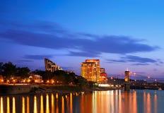 Covington Kentucky alla notte Immagini Stock
