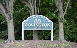 Covington, Tennessee Estblished im Jahre 1825 Stockfotos