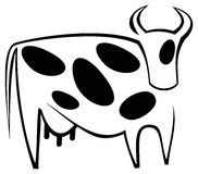Cow. Stylized  image of cow Royalty Free Stock Image