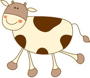 Cow. A chocolate cow for you royalty free illustration
