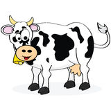 Cow. Cartoon illustration of a happy cow smiling royalty free illustration