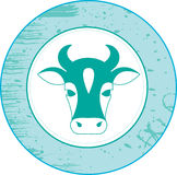 Cow. Element for design  illustration Royalty Free Stock Photo