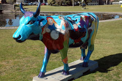 Cow. This cow is part of the hundreds of cows that are around the City of Sheppartion in Victoria Australia to promote The Moooving Art exhibit prepared by Stock Photography