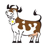 Cow. Cartoon of a Funny Cow vector illustration