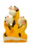 Cow. 3 Cartoon Cows on a white background Stock Images