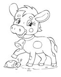 Cow. Illustration of the playful cow Stock Photography