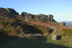 Cow And Calf Rocks, Ilkley Moor, West Yorkshire Royalty Free Stock Images