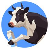 Cow And Milk Royalty Free Stock Photo