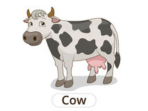 Cow animal cartoon illustration for children Stock Photography