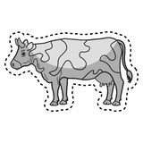 Cow animal farm in the field. Illustration design Royalty Free Stock Images