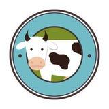 cow animal farm icon Royalty Free Stock Image