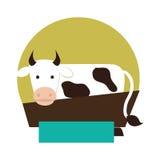Cow animal farm icon Stock Image
