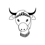 Cow as Sacred animal icon. Indian Culture design. Vector graphic Stock Photos