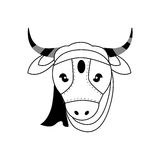 Cow as Sacred animal icon. Indian Culture design. Vector graphic Stock Photo