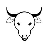 Cow as Sacred animal icon. Indian Culture design. Vector graphic Royalty Free Stock Photo