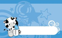 Cow baby cartoon background. In format stock illustration