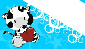 Cow baby love cartoon background Royalty Free Stock Photos