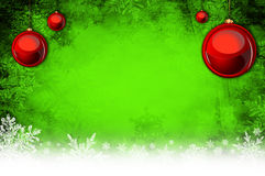 Cow background. Green christmas background with baubles Stock Photography