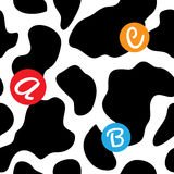 Cow background seamless vector illustration Stock Photography